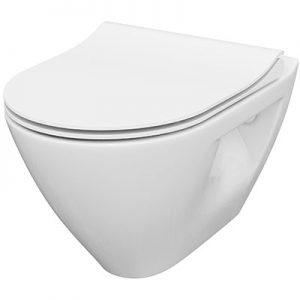 Miska WC z deską Slim Cersanit MILLE