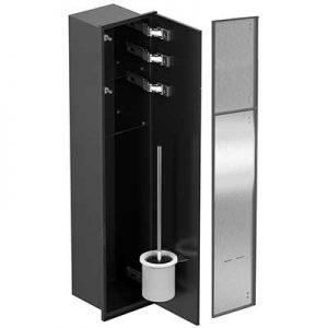 Schowek WC ze stali nierdzewnej MCJ czarny